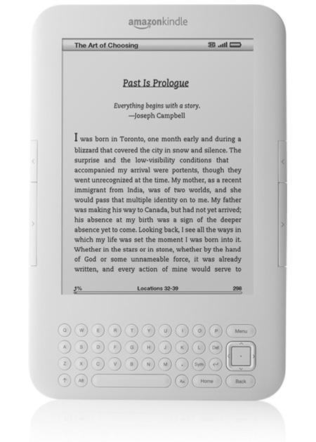 Amazon Kindle 3G+WiFi e-book reader White