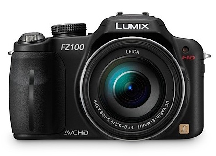 Panasonic LUMIX DMC-FZ100 Camera with 24x Zoom and Full HD Video Recording front