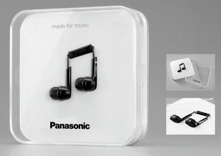 Panasonic RP-HJE130 Earphones with made for music package