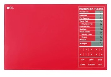 Perfect Portions Digital Scale + Nutrition Facts Display RED