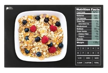 Perfect Portions Digital Scale + Nutrition Facts Display black