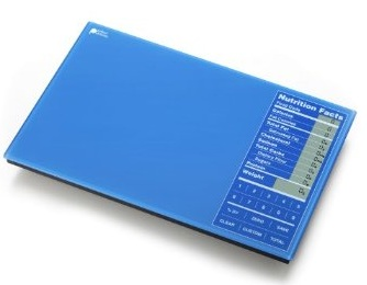 Perfect Portions Digital Scale + Nutrition Facts Display blue