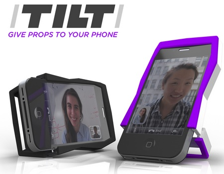 Quirky Tilt iPhone 4 Case Doubles as a stand