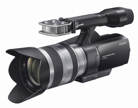 Sony Handycam NEX-VG10 - The First Interchangeable Lens HD Camcorder angle front