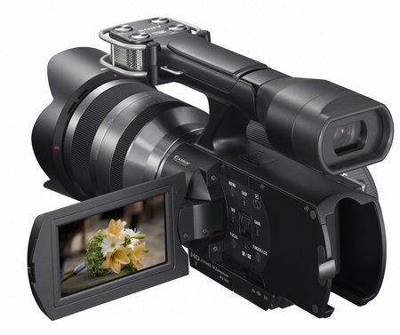 Sony Handycam NEX-VG10 - The First Interchangeable Lens HD Camcorder angle