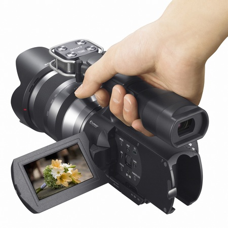 Sony Handycam NEX-VG10 - The First Interchangeable Lens HD Camcorder hand carry