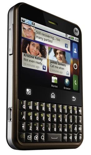 T-Mobile Motorola Charm MOTOBLUR Android Phone angle