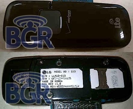 Verizon LG LTE USB Modem Pictured