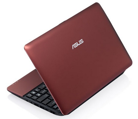 Asus Eee PC 1015PEM Seashell Netbook with Atom N550 red