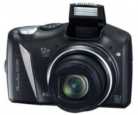 Canon PowerShot SX130 IS 12x Ultra Zoom Camera flash