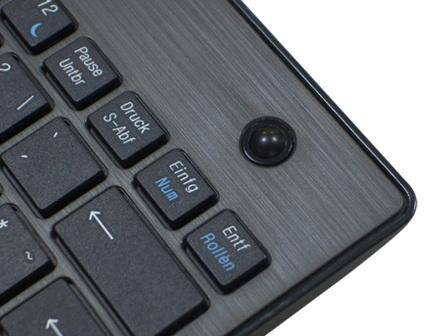 KeySonic KSK-3201 RF Wireless Mini Keyboard trackball