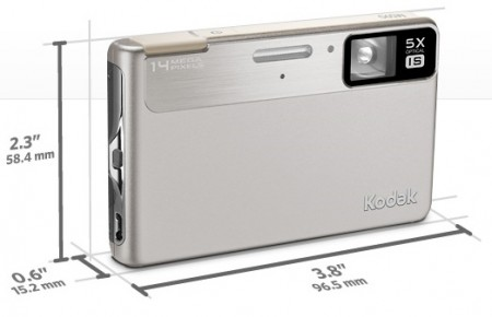 Kodak EasyShare M590 - Thinnest 5x Optical Zoom Camera silver