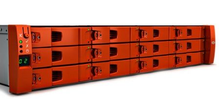 LaCie 12big Rack Fibre 8 Fibre Channel Storage Solution closeup