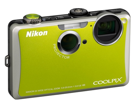 Nikon CoolPix S1100pj Projector Camera green