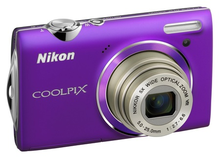 Nikon CoolPix S5100 Point-and-Shoot Camera with 720p Video purple