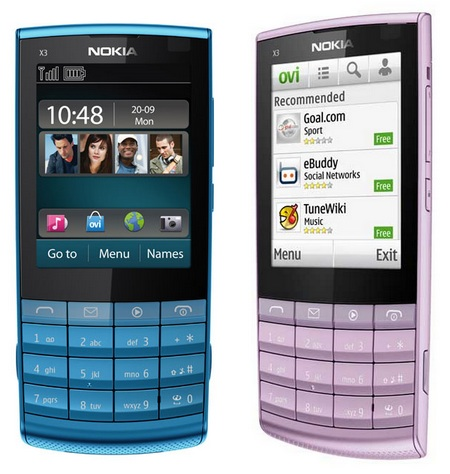 Nokia X3-02 Touch and Type Mobile Phone blue purple