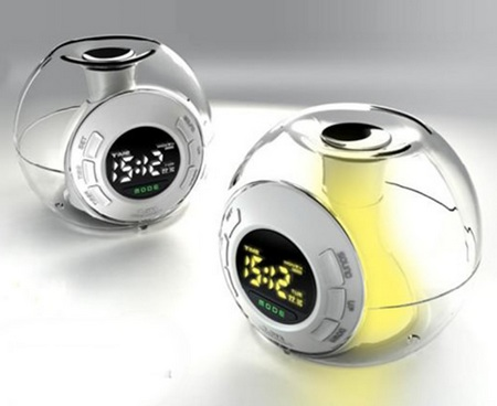 Orb Alarm Clock with Seven Color-changing Light Show