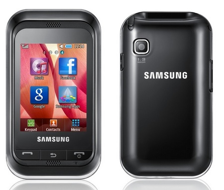 Samsung Champ GT-C3300K Entry-level Touchscreen Phone front back