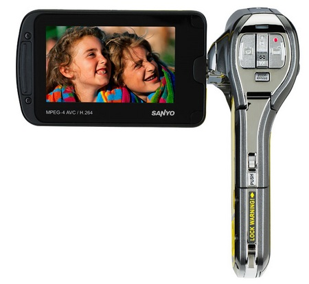 Sanyo Xacti VPC-CA102YL Waterproof Full HD Camcorder display