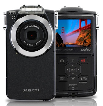 Sanyo Xacti VPC-PD2BK Pocket-Sized Dual Camera
