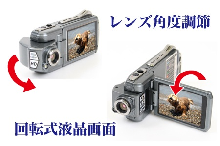 Thanko HDDV-506 HD Camcorder with Swivel Lens