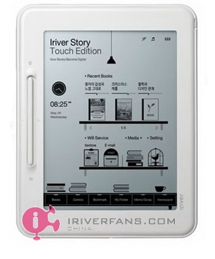 iRiver Story Touch Edition e-book reader front