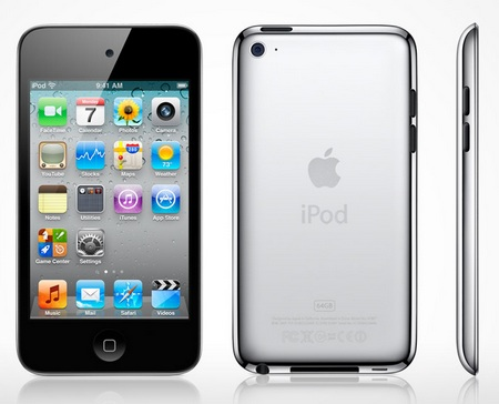 Apple iPod touch 4G front back