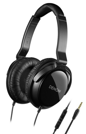 Denon AH-D310R Mobile Elite over ear headphones iphone