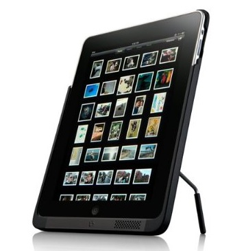 Kensington PowerBack iPad Battery Case with Kickstand portrait mode