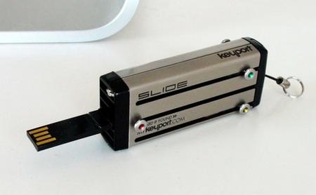 KeyPort Slide Key Holder adds USB Flash Drive