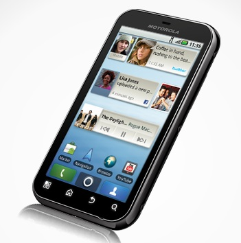Motorola Defy Rugged Android Smartphone angle