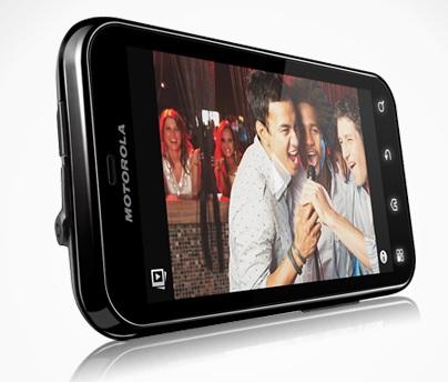 Motorola Defy Rugged Android Smartphone landscape angle