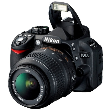 Nikon D3100 Entry-level DSLR angle flash open