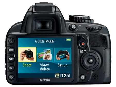 Nikon D3100 Entry-level DSLR back