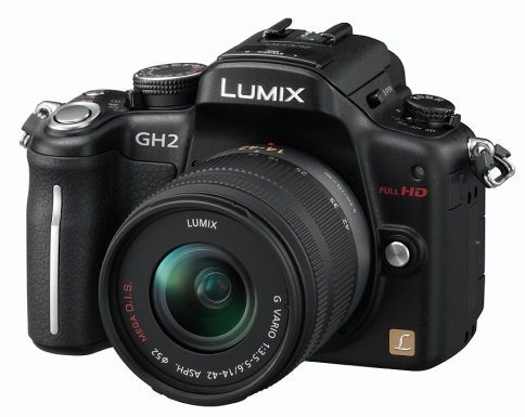 Panasonic LUMIX DMC-GH2 Hybrid Touch-Control Micro Four Thirds Camera angle