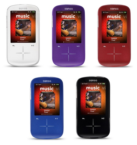 SanDisk Sansa Fuze+ Portable Media Player colors