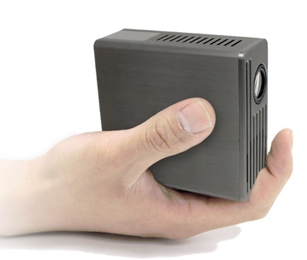 AAXA M1 Ultimate Micro Projector on hand