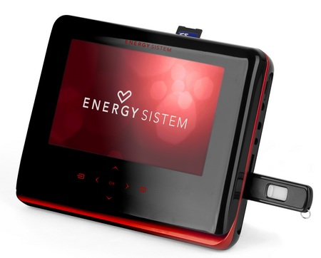 Energy Sistem M2700 Shift Ruby Red Portable DVD Player with USB