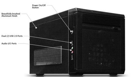 VidaBox CubeCase Mini-ITX Server Media Center Chassis