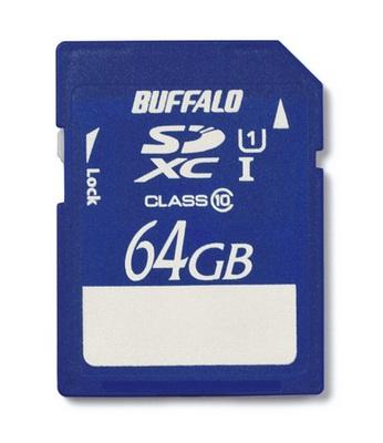 Buffalo RSDX-64GU1 64GB UHS-I Class 10 SDXC Memory Card