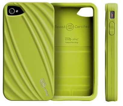 Case-mate Bounce iPhone 4 Case Reduces Cellphone Radiation green