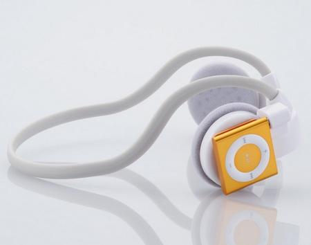 Elecom Actrail EHP-SPNBS01 Wireless Headphones for iPod Shuffle grey