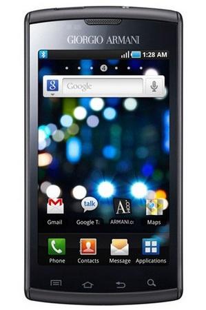 Giorgio Armani Samsung Galaxy S Phone is a Captivate with Armani Logo