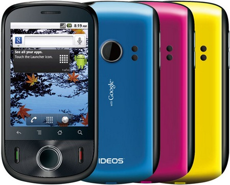 Huawei IDEOS Affordable Android 2.2 Smartphone colors