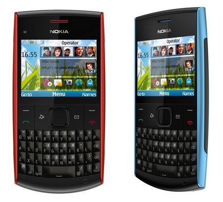 Nokia X2-01 Budget QWERTY Phone red blue
