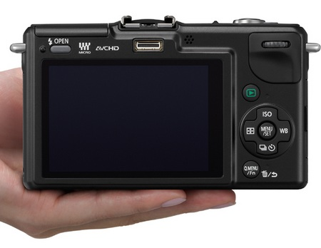 Panasonic LUMIX DMC-GF2 DSLMicro Mirrorless Camera back