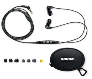 Shure SE210m+ Sound Isolating Headset with In-line Remote and Microphone package