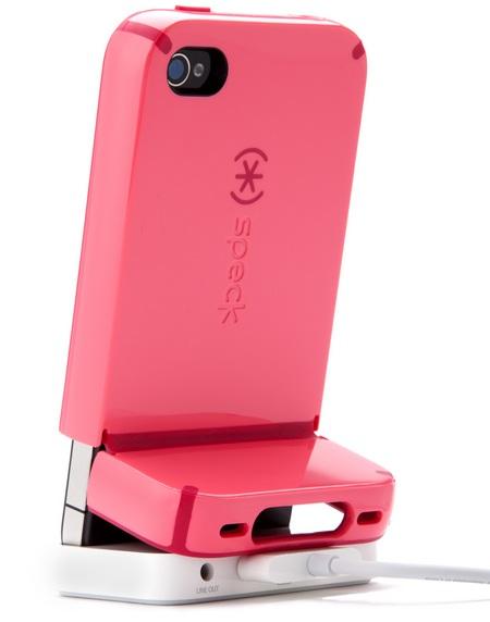 Speck CandyShell Flip iPhone 4 Case docked back
