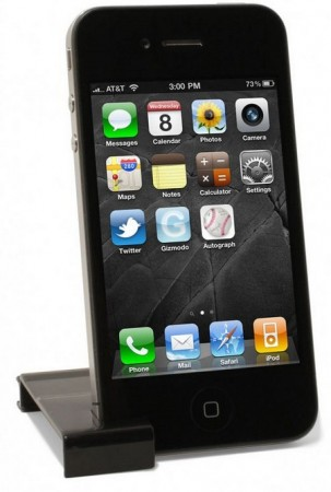 Ten One Design Pogo Stylus for iPhone 4 clip stand