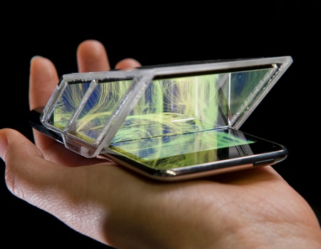 V2_ i3DG Palm Top Theater Turns iPhone, iPod touch into 3D Theaters